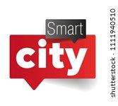 smart city speech bubble | Shutterstock .eps vector #1111940510