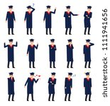 set of graduate students... | Shutterstock .eps vector #1111941656