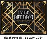 luxury vintage frame art deco... | Shutterstock .eps vector #1111942919