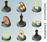 board game color isometric icons | Shutterstock .eps vector #1111943243