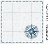old map with wind rose compass. ... | Shutterstock .eps vector #1111946993
