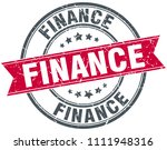 finance round grunge ribbon... | Shutterstock .eps vector #1111948316