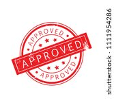 approved stamp isolated on... | Shutterstock .eps vector #1111954286