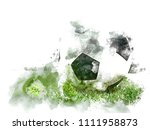 Abstract Colorful Football On...
