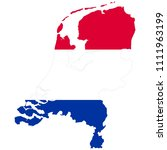 flag map of netherland | Shutterstock .eps vector #1111963199