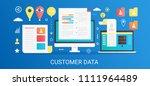 modern vector flat gradient... | Shutterstock .eps vector #1111964489