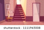 vector interior with staircase... | Shutterstock .eps vector #1111965008