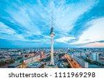 aerial view of berlin skyline...   Shutterstock . vector #1111969298