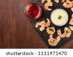 an overhead photo of a plate of ... | Shutterstock . vector #1111971470