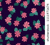 lovely seamless floral pattern... | Shutterstock . vector #1111971674