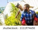 loving couple enjoying in... | Shutterstock . vector #1111974650