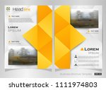 abstract of modern yellow... | Shutterstock .eps vector #1111974803