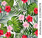 tropical vector pattern ... | Shutterstock .eps vector #1111984178
