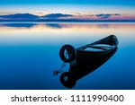 dawn on lake seliger with an... | Shutterstock . vector #1111990400