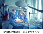 emergency surgical operation in ... | Shutterstock . vector #1111995779