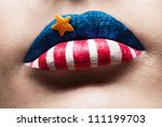 Macro 4th July Lips With...