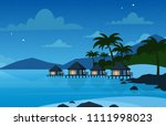 vector illustration of hotel on ... | Shutterstock .eps vector #1111998023