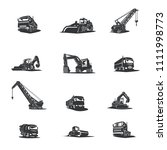 heavy construction machinery. | Shutterstock .eps vector #1111998773