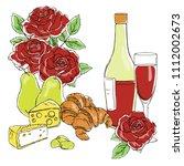 vector contour color romantic... | Shutterstock .eps vector #1112002673