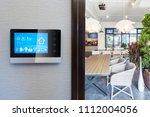 smart home app in control panel ...   Shutterstock . vector #1112004056