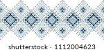 ikat geometric folklore... | Shutterstock .eps vector #1112004623