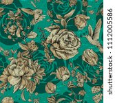 vintage seamless pattern with... | Shutterstock .eps vector #1112005586