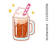 cute cartoon root beer float... | Shutterstock .eps vector #1112010206