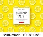 summer sale banner with sliced... | Shutterstock .eps vector #1112011454