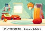 vector children s bedroom... | Shutterstock .eps vector #1112012393