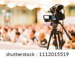 video camera set record...   Shutterstock . vector #1112015519