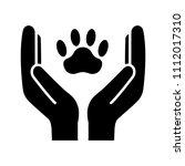 animal welfare glyph icon....   Shutterstock .eps vector #1112017310
