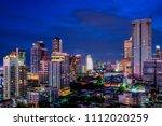 scenic of night cityscape...   Shutterstock . vector #1112020259