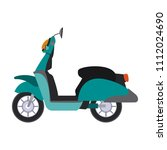 scooter motorcycle isolated | Shutterstock .eps vector #1112024690
