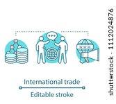 international trade concept... | Shutterstock .eps vector #1112024876