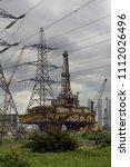 delta platform decommissioning... | Shutterstock . vector #1112026496