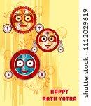 vector design of ratha yatra of ... | Shutterstock .eps vector #1112029619