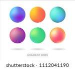 unique gradient mesh orbs set... | Shutterstock .eps vector #1112041190