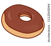 delicious donut with cream | Shutterstock .eps vector #1112043044