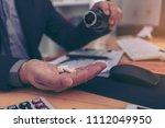 stressed businessman having... | Shutterstock . vector #1112049950