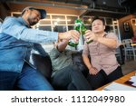 business people are drinking to ... | Shutterstock . vector #1112049980