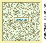 summer label with swirls... | Shutterstock .eps vector #1112050736