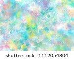 abstract watercolor digital art ... | Shutterstock . vector #1112054804