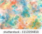 abstract watercolor digital art ... | Shutterstock . vector #1112054810