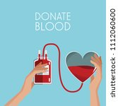 donate blood campaign | Shutterstock .eps vector #1112060600