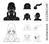 cosmetic  salon  hygiene  and... | Shutterstock .eps vector #1112061140