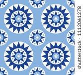 folk geometric seamless pattern....   Shutterstock .eps vector #1112061278