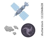 space technology cartoon icons... | Shutterstock .eps vector #1112068628