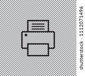 fax  web icon. vector design | Shutterstock .eps vector #1112071496