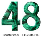 arabic numeral 48  forty eight  ... | Shutterstock . vector #1112086748