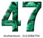 arabic numeral 47  forty seven  ... | Shutterstock . vector #1112086754